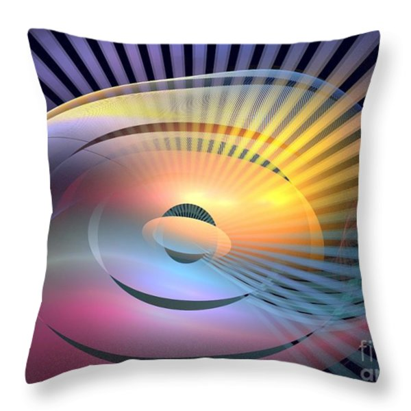Transitory Throw Pillow by Kim Sy Ok