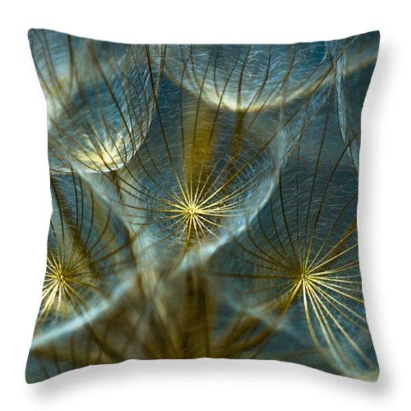 Translucid Dandelions Throw Pillow by Iris Greenwell