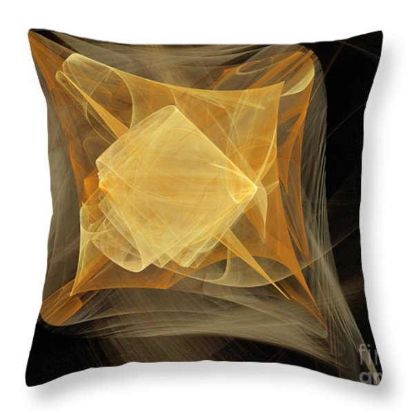 Travel In Time To 1969 Encased In Space Throw Pillow by Andee Design