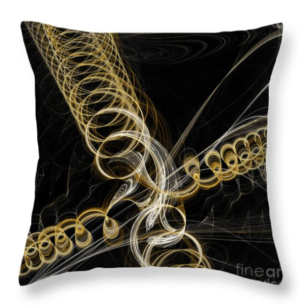 Travel In Time To 1969 Spring Into Space Throw Pillow by Andee Design