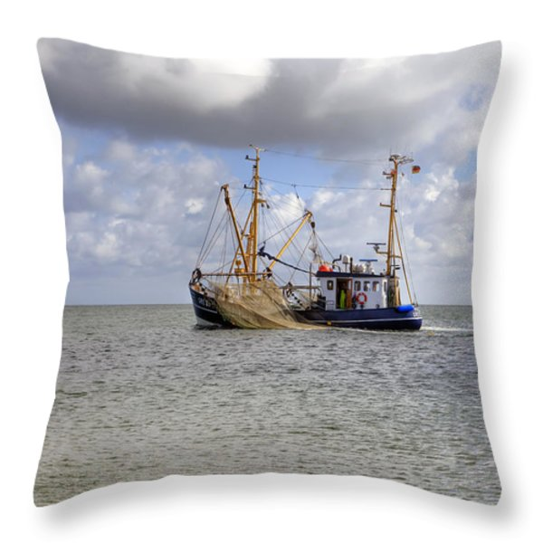 trawler - Sylt Throw Pillow by Joana Kruse