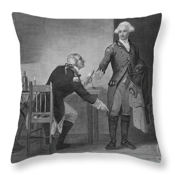 Treason Of Benedict Arnold, 1780 Throw Pillow by Photo Researchers