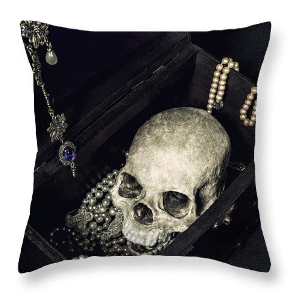 Treasure Chest Throw Pillow by Joana Kruse