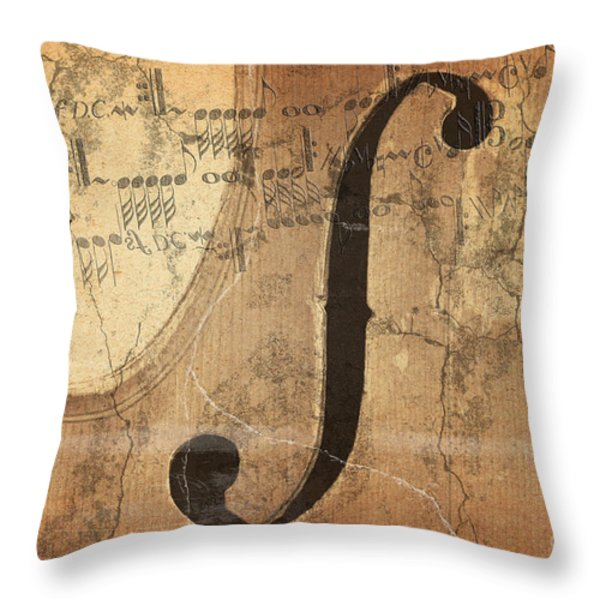 Treble Clef Throw Pillow by Michal Boubin