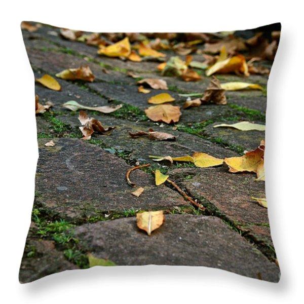 Tree Litter Throw Pillow by Susan Herber