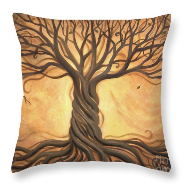 Tree of Life Throw Pillow by Renee Womack