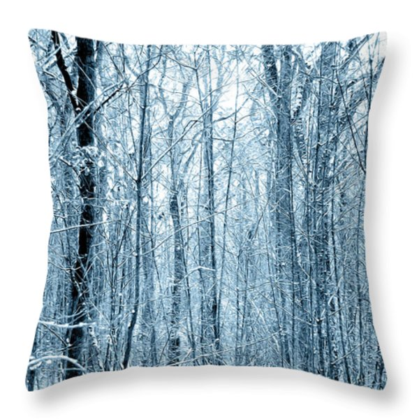 Tree Trunks Pattern Throw Pillow by Svetlana Sewell