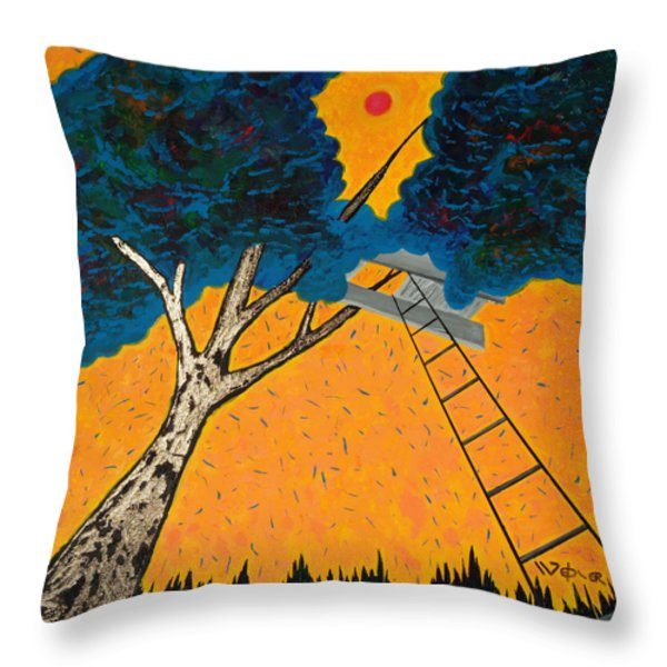 Treehouse Throw Pillow by Randall Weidner