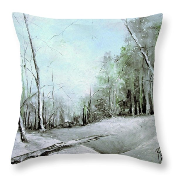 Trees in Winter #2 Throw Pillow by Robin Miller-Bookhout
