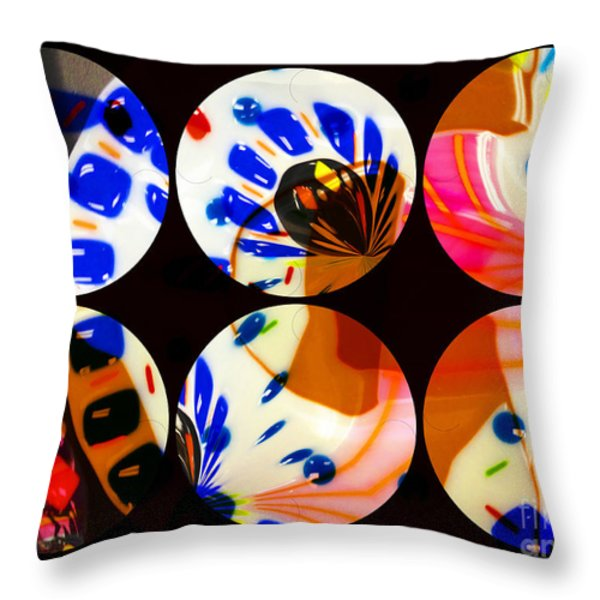 Tres 2 Throw Pillow by Cheryl Young