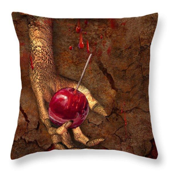 Trick Or Treat Throw Pillow by Carol Cavalaris