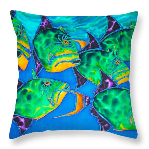 Triggers Throw Pillow by Daniel Jean-Baptiste