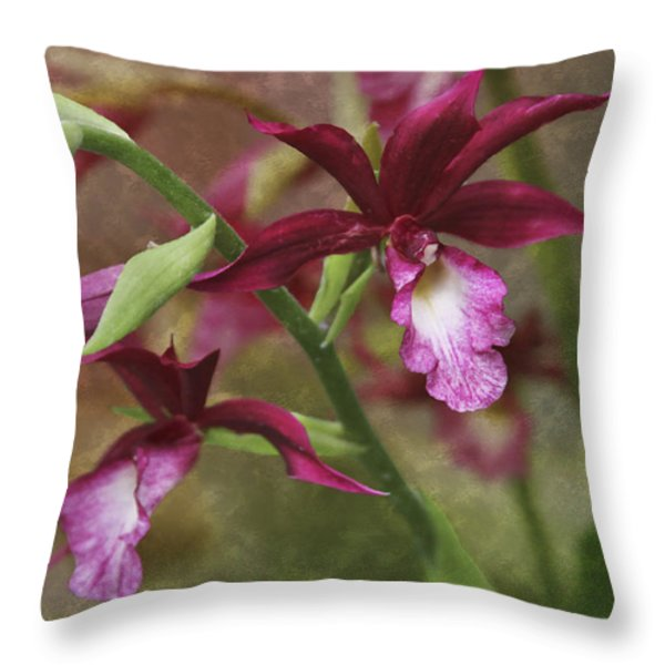 Tropical Beauty Throw Pillow by Debra and Dave Vanderlaan
