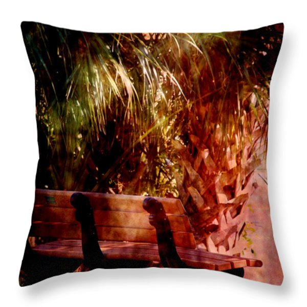 Tropical Bench Throw Pillow by Susanne Van Hulst