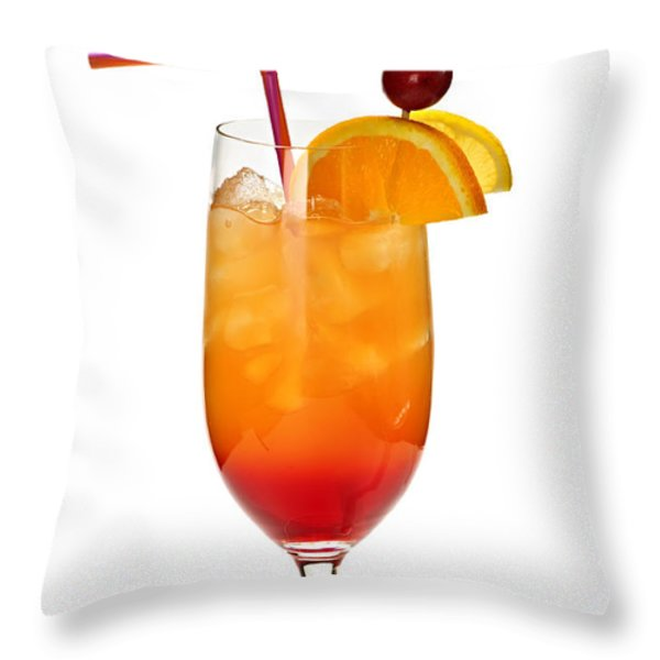 Tropical cocktail Throw Pillow by Elena Elisseeva