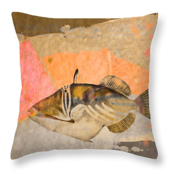 Tropical Dream Number 2 Square Format Throw Pillow by Carol Leigh