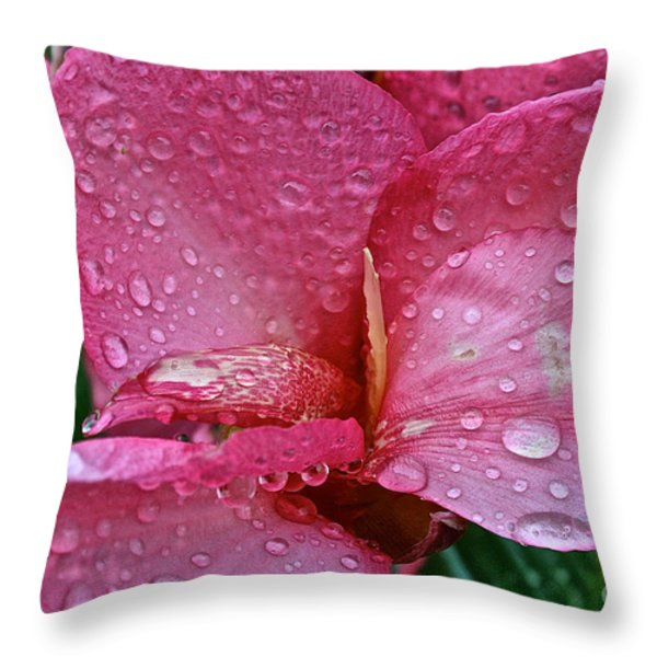 Tropical Rose Throw Pillow by Susan Herber
