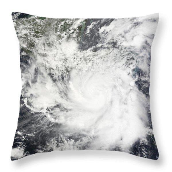 Tropical Storm Alma Throw Pillow by Stocktrek Images