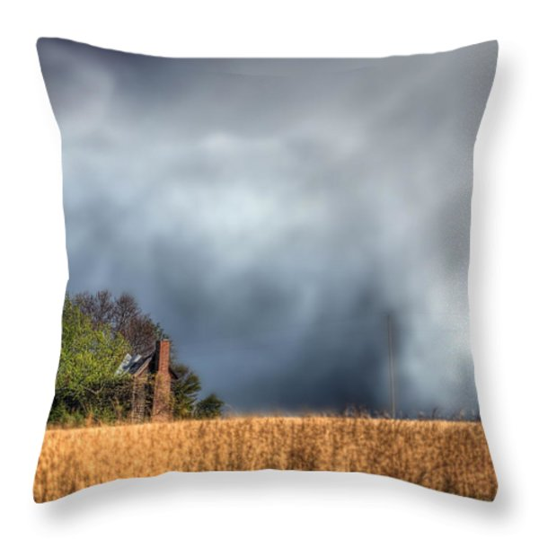 Trouble Brewing  Throw Pillow by JC Findley