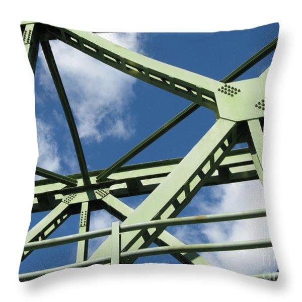 Truss Throw Pillow by Arlene Carmel