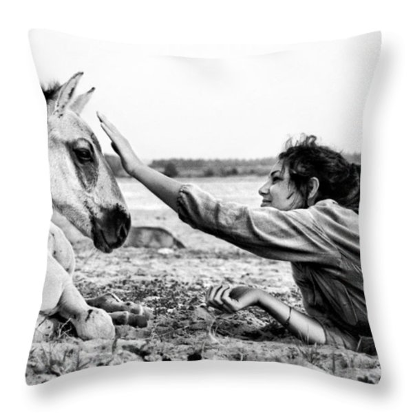 Trustful Friendship  Throw Pillow by Justyna Lorenc
