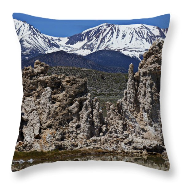 Tufa at Mono Lake California Throw Pillow by Garry Gay