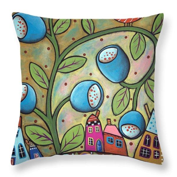 Tulip Town Throw Pillow by Karla Gerard