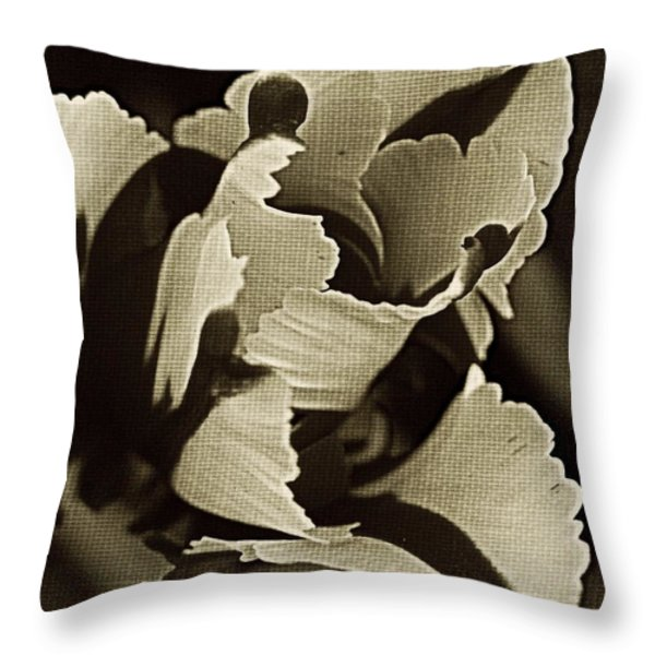 Tulip Whirled  Throw Pillow by Chris Berry