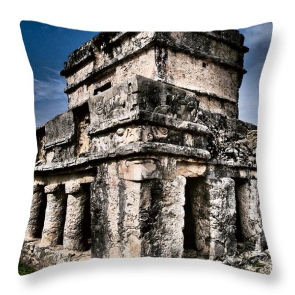 Tulum Ruinas 1 Throw Pillow by Skip Hunt