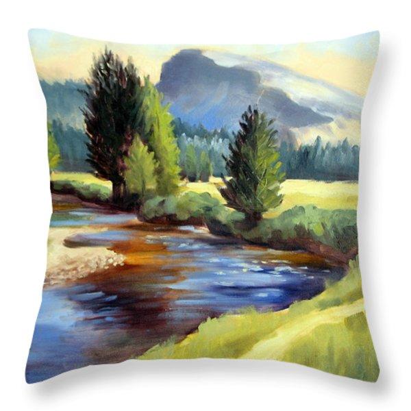 Tuolomne Meadows Throw Pillow by Karin  Leonard