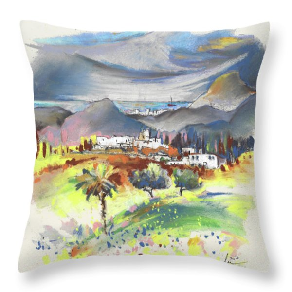 Turre In Spain 03 Throw Pillow by Miki De Goodaboom