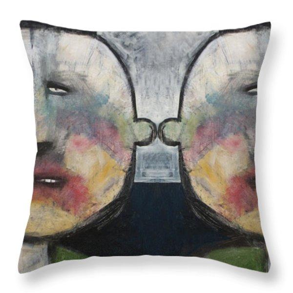 Tweedledee And Tweedledum Throw Pillow by Tim Nyberg