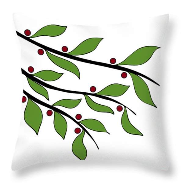 Twigs Throw Pillow by Frank Tschakert
