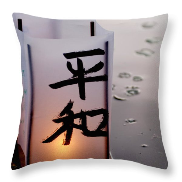 Twilight Throw Pillow by Greg Fortier