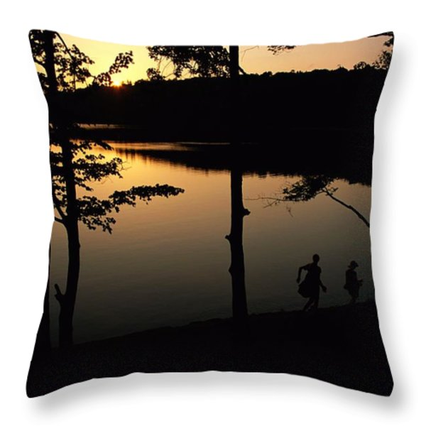Twilight Over Walden Pond, Made Famous Throw Pillow by Tim Laman