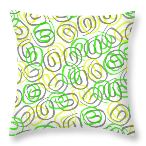 Twirls Throw Pillow by Louisa Knight