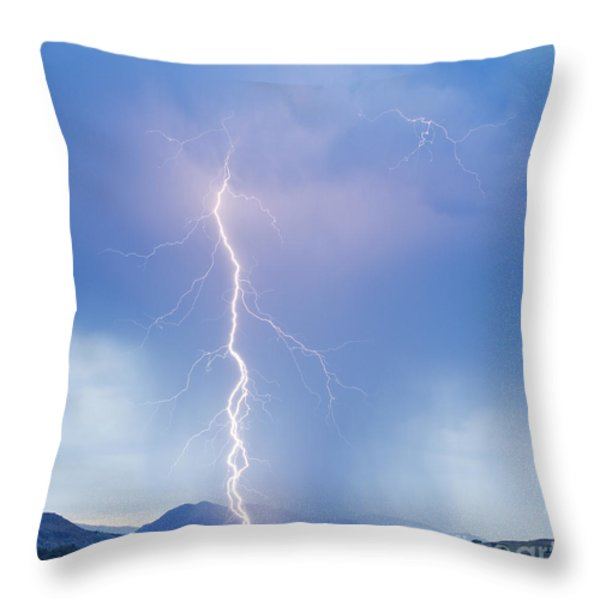 Twisted Lightning Strike Colorado Rocky Mountains Throw Pillow by James BO  Insogna
