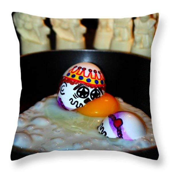 Twisted Rhymes Throw Pillow by Patrick Witz