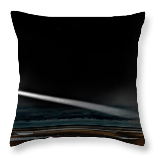 two guiding lights Throw Pillow by Meirion Matthias