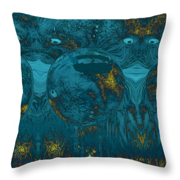 Two of a Kind Throw Pillow by Linda Sannuti