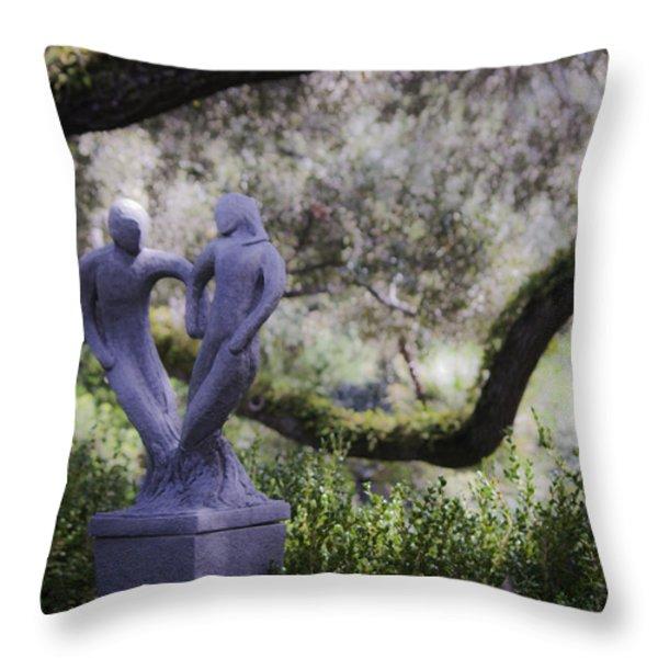Two To Tango Throw Pillow by Teresa Mucha