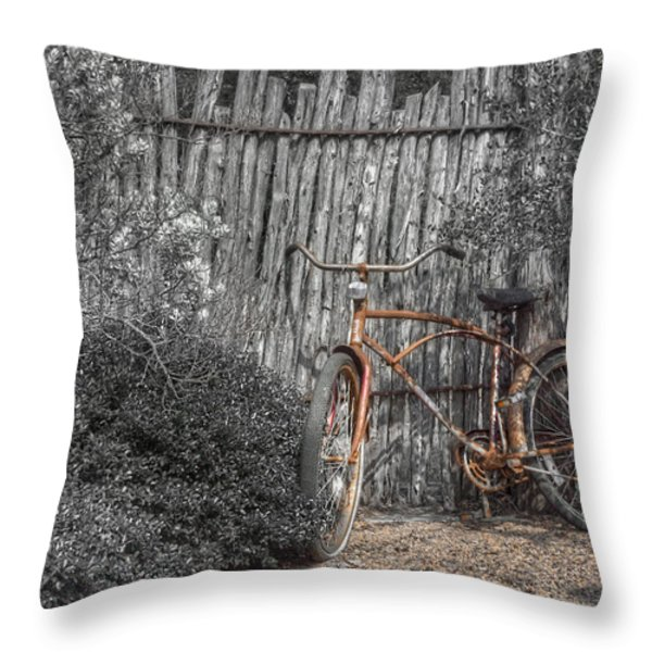 Two Wheels Throw Pillow by Scott Norris