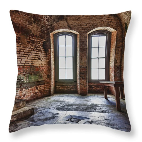 Two windows Throw Pillow by Garry Gay