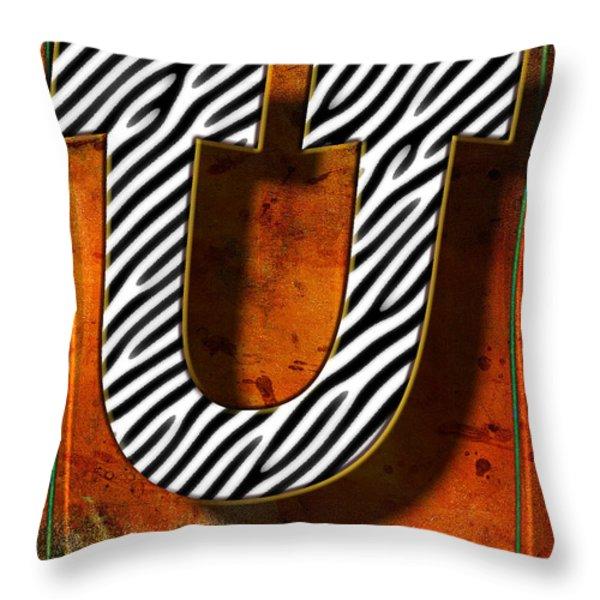 U Throw Pillow by Mauro Celotti