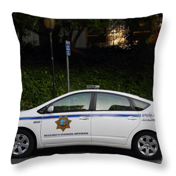 Uc Berkeley Campus Police Car  . 7d10181 Throw Pillow by Wingsdomain Art and Photography