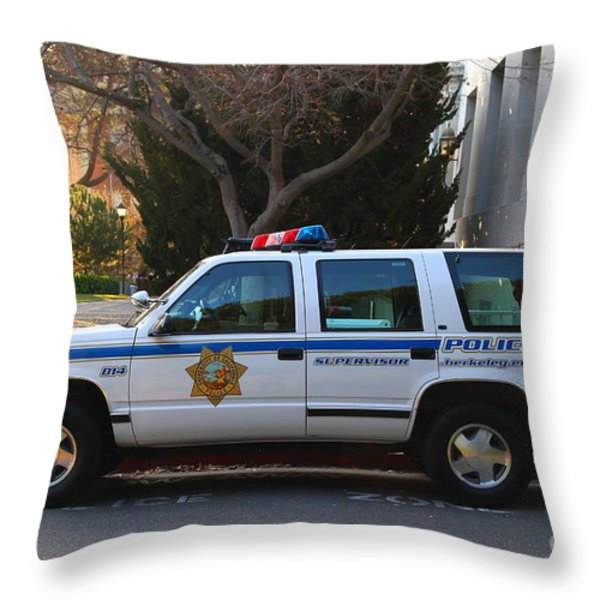 Uc Berkeley Campus Police Suv  . 7d10182 Throw Pillow by Wingsdomain Art and Photography