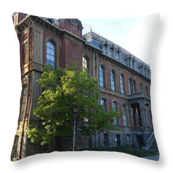 Uc Berkeley . South Hall . Oldest Building At Uc Berkeley . Built 1873 . 7d10103 Throw Pillow by Wingsdomain Art and Photography
