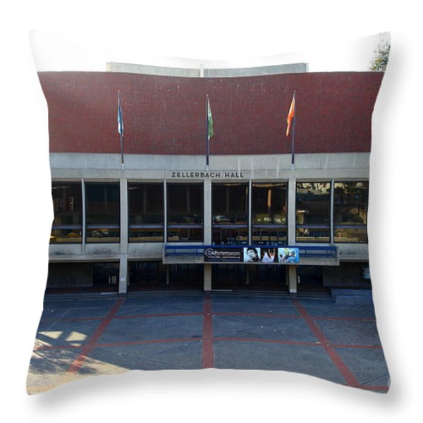 UC Berkeley . Zellerbach Hall . 7D10012 Throw Pillow by Wingsdomain Art and Photography