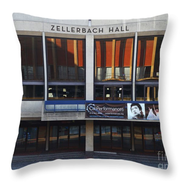 UC Berkeley . Zellerbach Hall . 7D9989 Throw Pillow by Wingsdomain Art and Photography