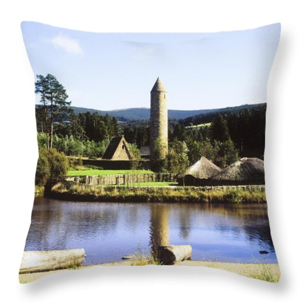 Ulster History Park, Omagh, County Throw Pillow by The Irish Image Collection